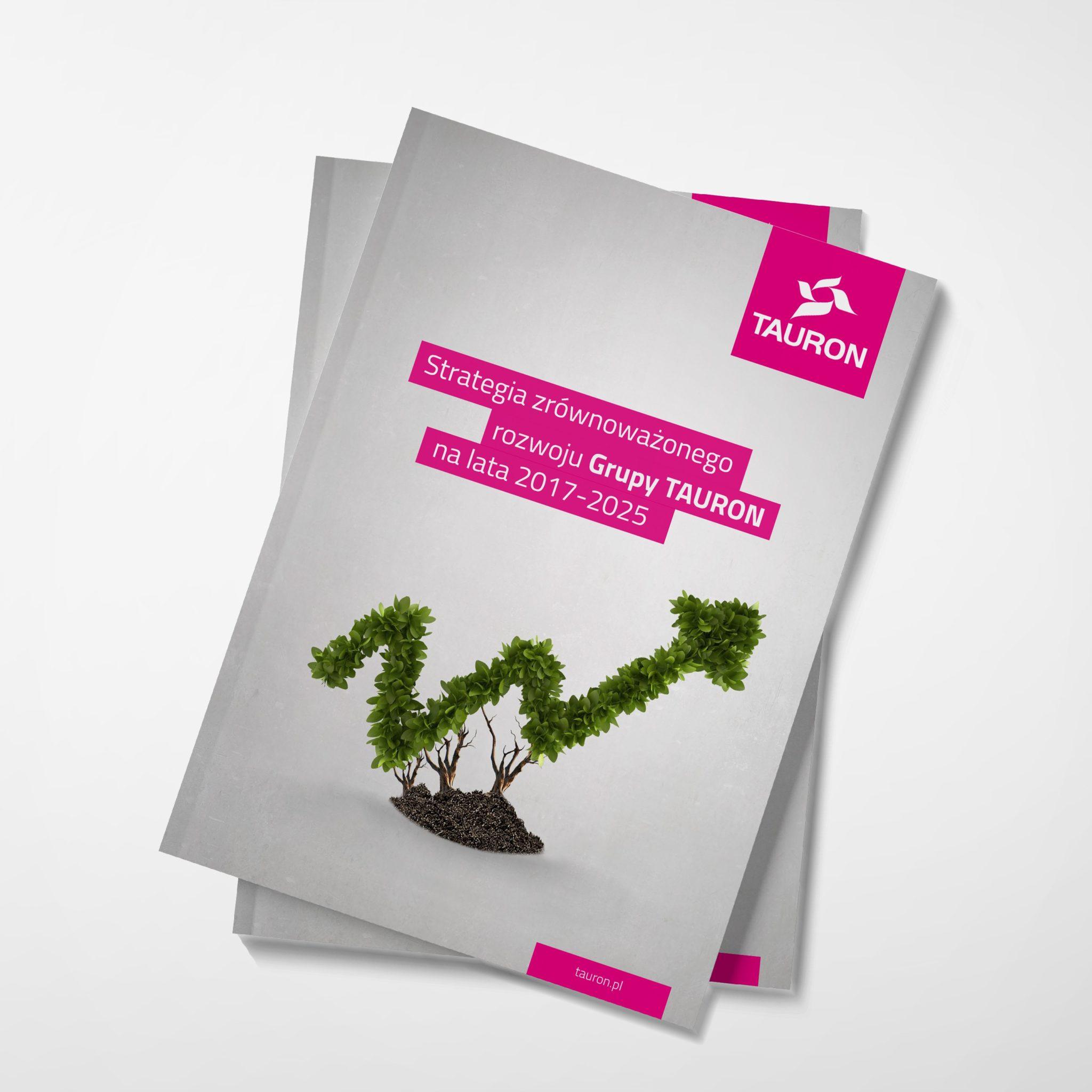 projekt broszura CSR okladka Tauron Studio A