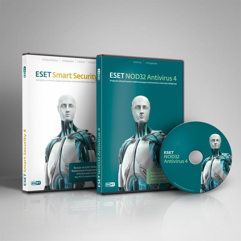 Projekt opakowania ESET antywirus studio A