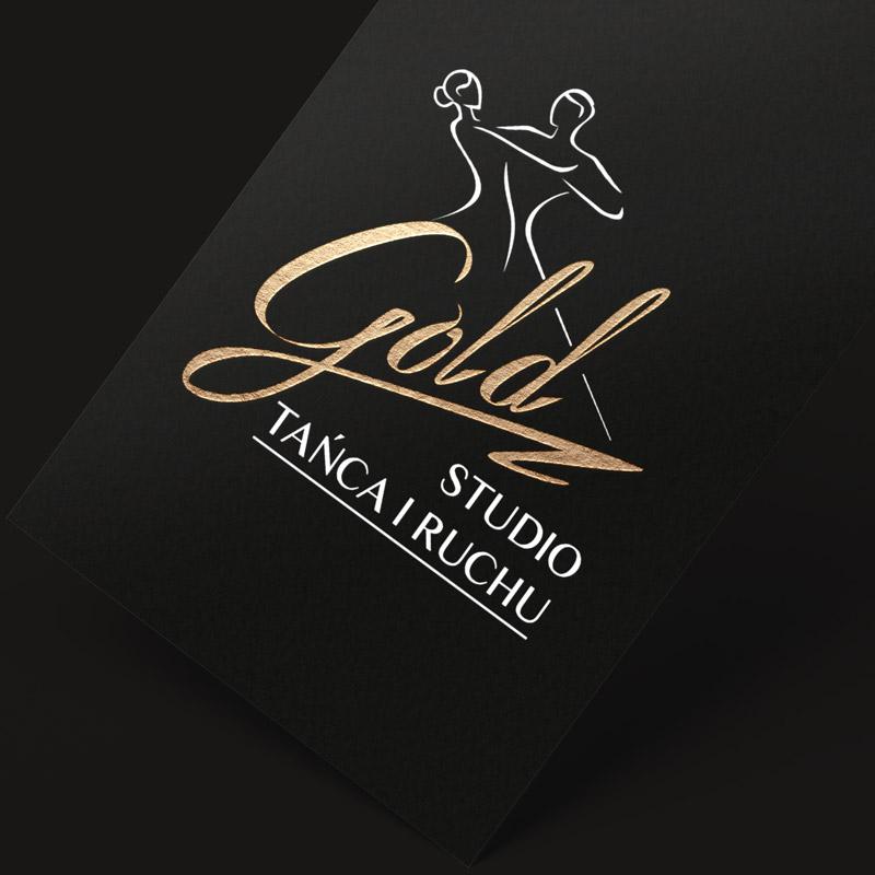 Gold Studio Tańca i Ruchu Logo wizytówka